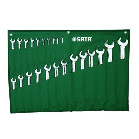 Zestaw 23 kluczy płasko-oczkowych w saszetce SATA 09027