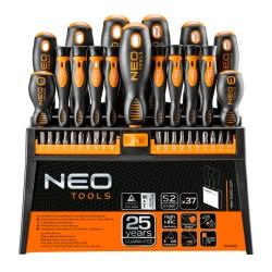 Zestaw wkrętaków i końcówek wkrętakowych 37 szt. Neo Tools 04-210